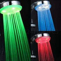 New 3 Color Chaging LED Light Shower Head Home Bath China Wholesale - Sammydress.com