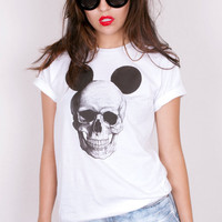 Mickey Mouse Skull Crew Neck