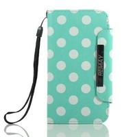 Amazon.com: ZuGadgets 7624-4 Mini Diary Book Design Leather Polka Dot Cover / Case / Wallet / Holder with Cards Slot for Samsung Galaxy S III S3 i9300: Cell Phones & Accessories