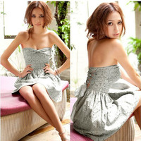 ELEGANT BOW FRONT DRESS WITH TIE BACK 2400