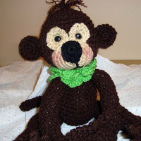 Hand-Crocheted Amigurumi Monkey