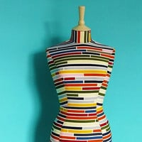Colourful Striped Mannequin Dressform by CorsetLacedMannequin