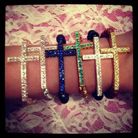 Sideways Cross Bracelet from La Fede Boutique