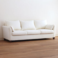 Ivory Canvas Luxe Three-Seat Sofa Slipcover Collection | Living Room Furniture| Furniture | World Market
