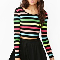 Highlighter Stripe Crop Top