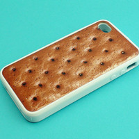 IceCream Sandwich--iPhone 5 Case,iphone 4 case, iphone case in durable black or white plastic