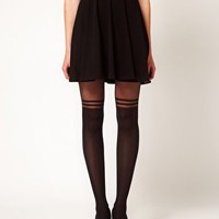 Gipsy Mock Over The Knee Stripe Tights at asos.com