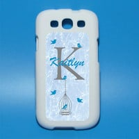 Birdcage Monogram Personalized Printed Iphone decal Mac decal Galaxy 3 decal ipad decal iphone sticker