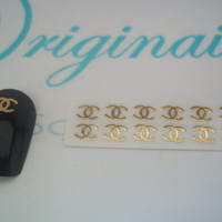 Summer offer. 20 very rare gold Chanel inspired nail decals.