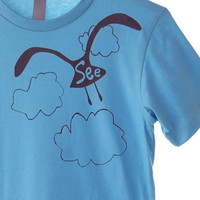 See Gull on Oceans of Blue Graphic Screenprinted by dirTapparel