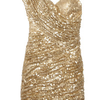 Opulence England Sequined one-shoulder mini dress  40% at THE OUTNET.COM