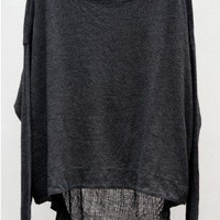 Basics Long Sleeve Reversible Cocoon — Black by Raquel Allegra at HEIST