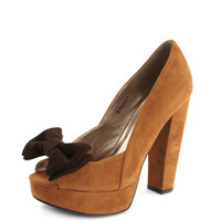 Charlotte Russe - Little Bow Peep-Toe Pump