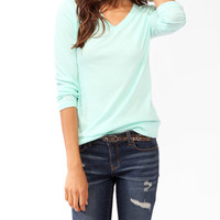 Banded V-Neck Top | FOREVER21 - 2027705993