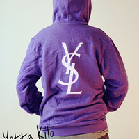 Unisex American Apparel Hoodies - YSL LOGO - Purple Hoodies