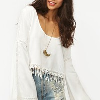 Puebla Crop Top - White