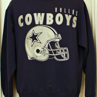 "80s Vintage ""DALLAS COWBOYS"" Sweatshirt Sz: Large"