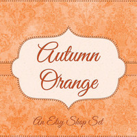 Orange Etsy Banner, Autumn Etsy Banner, Fall Etsy Banner