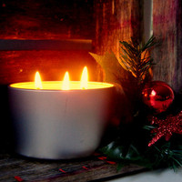 Christmas Candle - NOEL /Hand Poured Soy Candles / Scented Soy Candle Tin