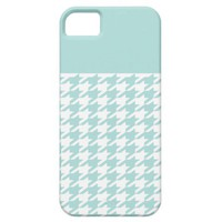 Mint Houndstooth iPhone 5 Covers from Zazzle.com