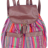 Bright Striped Backpack