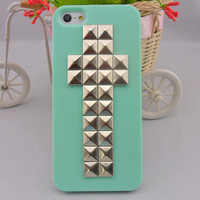 iPhone 5 hard Case cover with silver pyramid stud for iPhone 5 ,iPhone 5 case,iPhone hand case cover  -2793