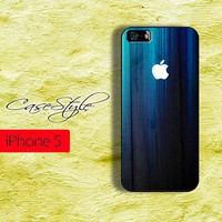 iPhone 5 case, hard case for iPhone 5, Blue Wood design. available in Black or white .Includes a screen protector for free