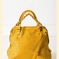 Weaving Through Bag in Yellow - Francesca's Collections
