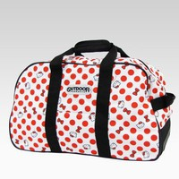 shop.sanrio.com - Hello Kitty White Rolling Boston Bag: Polka Dot