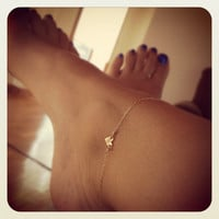 Delicate Gold Heart Anklet with Thin Chain and Hammered Heart Charm in 14k Gold Fill - Delicate Gold Chain, Order as a Bracelet or Anklet