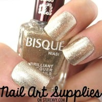 nailartsupplies | Light Gold - Metallic Textured Gold Glittery Nail Polish Lacquer 16ml | Online Store Powered by Storenvy