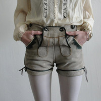 Later Hosen Vintage Suede Hot Pants by VeraVague on Etsy