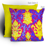 DENY Designs Home Accessories | Romi Vega Pink Retro Wallpaper Throw Pillow