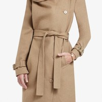 BCBGMAXAZRIA - CARLIN DOUBLE-BREASTED WOOL-BLEND TRENCH COAT