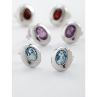oval birthstone stud earrings from RedEnvelope.com