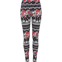 Black floral print Chelsea Girl leggings
