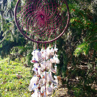Maroon Sea Shell Dream Catcher