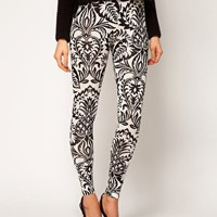 ASOS Legging in Baroque Print at asos.com