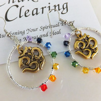 Seven Clearing Chakras OHM Earrings
