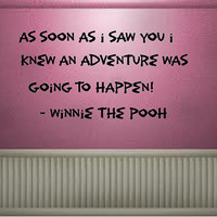 As soon as I saw you....Winnie The Pooh Vinyl Wall Decal