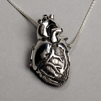 Anatomical Heart Locket- 24 inch chain
