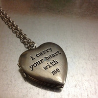 i carry your heart with me Locket Necklace