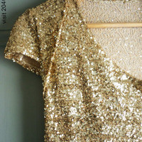 Wear nothing but this 2040 gold sequin Dress this by 2040fashion