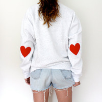 Elbow Heart Sweatshirt - original red