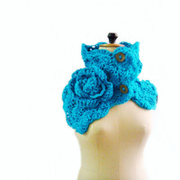 Button Up Cowl Crocheted Scarf
