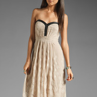 Twelfth Street By Cynthia Vincent Rancho Dolores Leather Trim Embroidered Maxi in Taupe from REVOLVEclothing.com