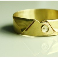 Gentleman Shirt Bangle by yellowgoat on Etsy