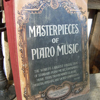 Victorian Style Book - Masterpieces of Piano Music 1922
