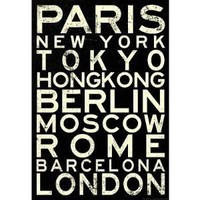 Amazon.com: (13x19) Cities of the World RetroMetro Travel Poster: Home & Kitchen