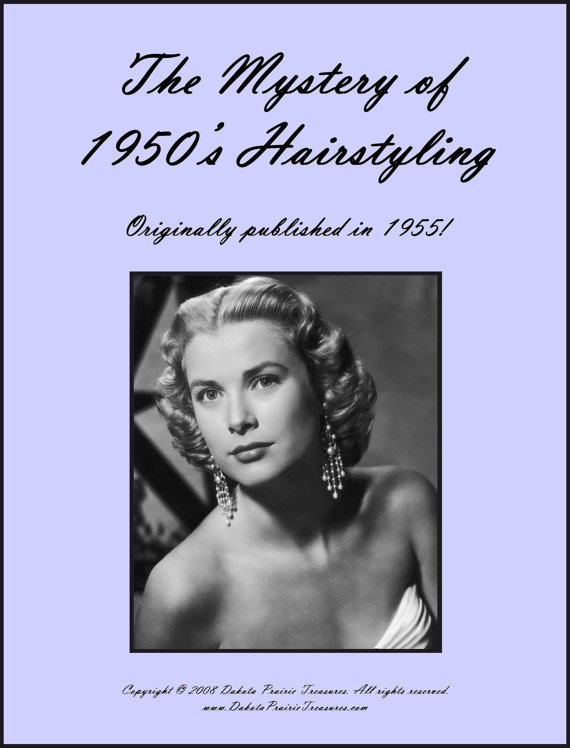 1955 Hairstyles Book Illustrated 50s Hair from schmetterlingtag